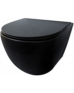 Best Design Morrano wandcloset rimfree m/ zitting mat zwart