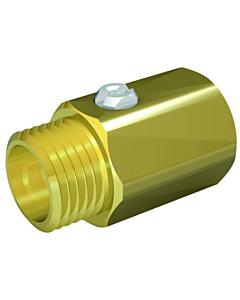 "Ballofix kogelafsluiter recht 3/4"" bi.dr. x 3/4"" bu.dr. chroom"