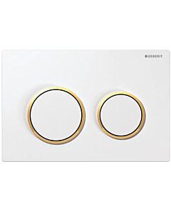 Geberit bedieningsplaat Kappa21 wit/goud/wit