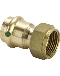 "Profipress 2-dlg koppeling brons 15 mm pers x G 1/2"" bi.dr. vlak"