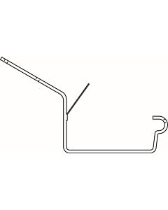 Evaco G120 gootbeugel grijs 47° 4 mm lip/kraal