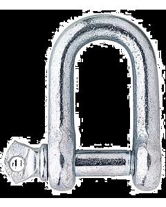 D-sluiting 10 mm staal verzinkt