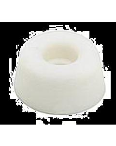 Closetbuffer rubber Ø 20 x 10 mm wit