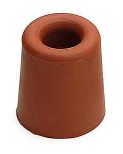 Deurbuffer rubber Ø 30 x 24 mm rood