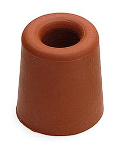 Deurbuffer rubber Ø 31 x 33 mm rood