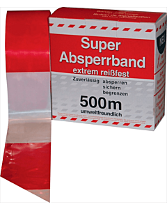 Afzetband rood/wit doos 500 m