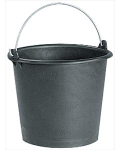 Bouwemmer zwart 12 liter
