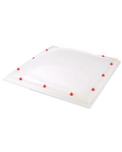 Skylux lichtkoepel 2W helder PC/pmma Heatstop TH  DM 100 x 100 cm