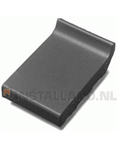 Terca raamdorpel 105x160x30 mm kering 20 mm zwart verglaasd.