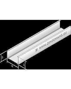 Dingemans C-plafondprofiel C60/27 lengte 300 cm