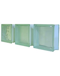 Glazen bouwsteen helder 190 x 190 x 80 mm