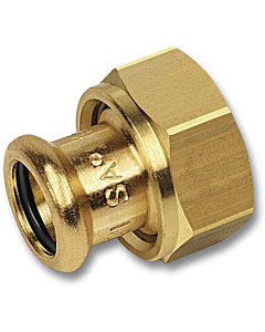 "PURAPRESS 2-delige koppeling 12 mm pers x 1/2"" bi.dr."