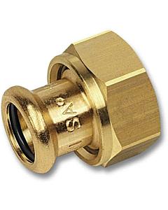 "PURAPRESS 2-delige koppeling 28 mm pers x 1.1/2"" bi.dr."