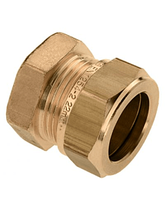 Bonfix eindkoppeling 15 mm knel