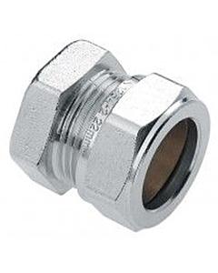 Bonfix eindkoppeling 22 mm knel chroom
