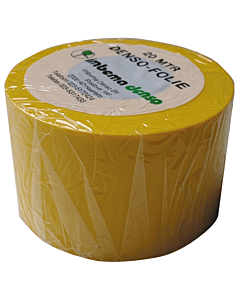 Denso folie pvc geel    5 cm breed rol 20 m