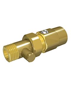 """Ballofix radiatorvoetventiel met aftap 1/2"""" recht"""