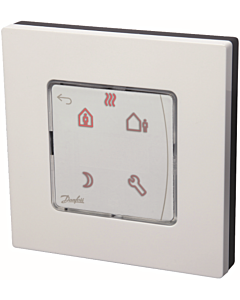 Danfoss Icon kamerthermostaat 230V display program. wand opbouw