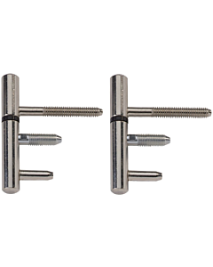 AXA inboorpaumelle 12 mm staal vernikkeld 2 stuks