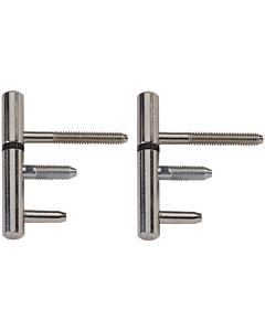 AXA inboorpaumelle 14 mm staal vernikkeld 2 stuks