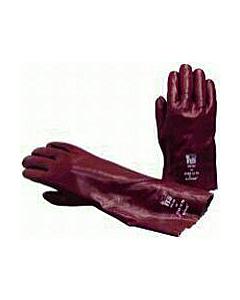 Handschoen chemicaliën pvc-gedompeld 35 cm maat 10