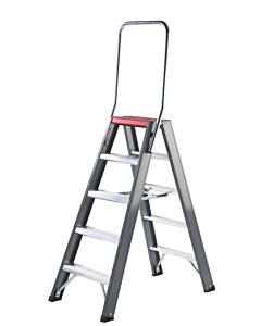 Altrex Falco trap dubbel oploopbaar  2 x 5 treden incl. steunbeugel