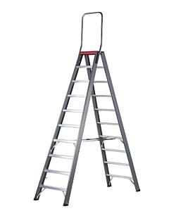 Altrex Falco trap dubbel oploopbaar 2 x 10 treden incl. steunbeugel