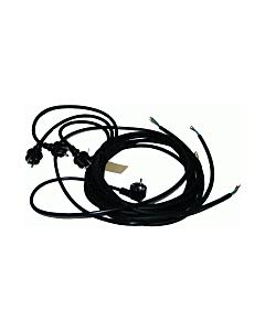 Gereedschapsaansluitsnoer H07RN-F 3x1.5 mm zwart 5 m