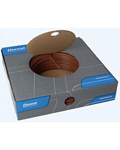 Donne installatiedraad VD/Eca  2.5 mm2 rol 100 m bruin