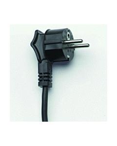 Aansluitsnoer haaks H05V2V2-F3G 1.50 mm2 zwart 2 m
