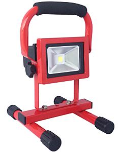 Nova LED-bouwlamp 10W met statief oplaadbaar 700 lumen rood