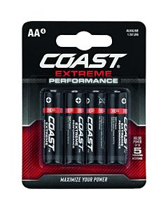 Coast Extreme Performance batterij alkaline penlite AA 4 stuks