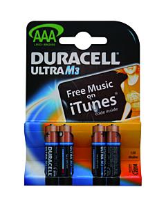 Duracell batterij MX2400 AAA 1.5V 4 stuks