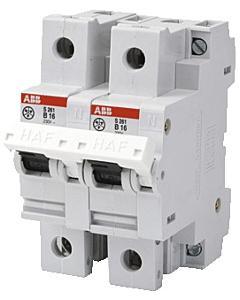 ABB Hafonorm installatieautomaat fornuisgr 1-fase 2-polen 16 A/b-kar
