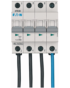 Eaton installatieautomaat 4p b16a flex naast