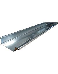 NedZink bakgoot B30 zink naturel 0.8 mm lengte 3 m