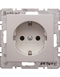 Berker S.1/B.3/B.7 wandcontactdoos+ra 1-voudig z/klem wit